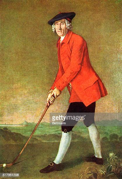 Fulllength portrait of William St Clair of Roslin as captain of the Hon Company of Edinburgh Golfers Oil painting by Sir George Chalmers