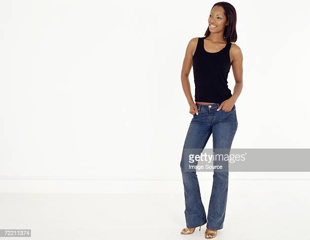 Full-length portrait of young african american woman
