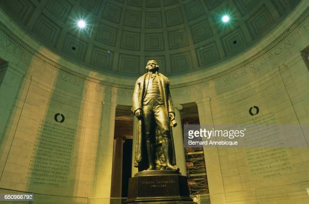 Fulllength statue of Thomas Jefferson at the Jefferson Memorial | Located in Jefferson Memorial