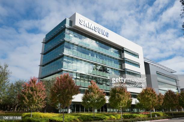 Fulllength view of the regional headquarters of technology company Samsung in the Silicon Valley town of Mountain View California October 28 2018