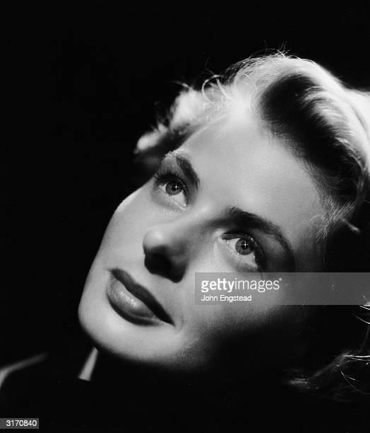Full-lipped and high cheekboned film star Ingrid Bergman .
