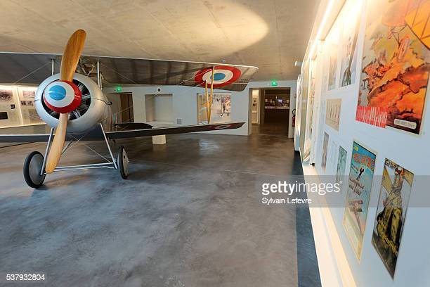 Full-scale plane piloted by Georges Guynemer in the new WW1 Thiepval Visitor and Interpretation museum division opened on the Centenary Of The Battle...