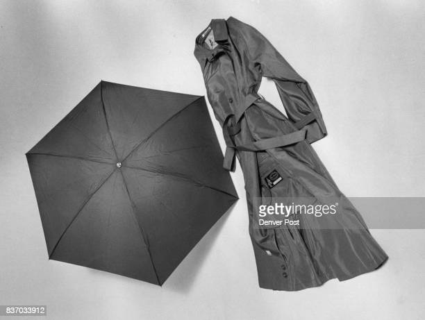 FullSize raincoat and umbrella from Susan B Exclusives can be folded into compact totableS Credit The Denver Post