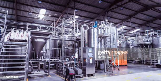 fully automated dairy factory in africa - manufacturing equipment stock pictures, royalty-free photos & images