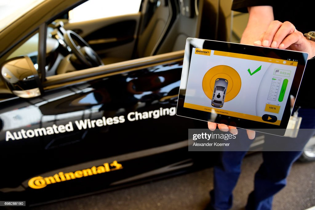 A Fully Electric Vehicle With Inductive Charging Is Presented During Media Event By Continental To