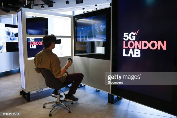 A fully immersive user experience demonstrates the bandwidth and latency of the 5G network at Verizon Communications Inc's 5G tech showroom and...