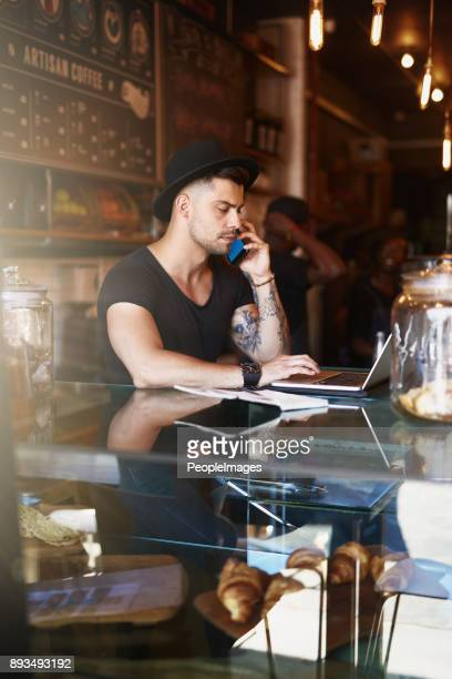 Fully involved in managing his coffee shop