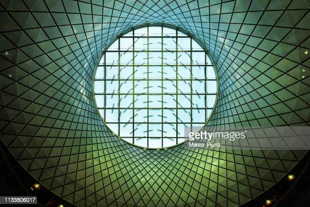 fulton center nyc subway station in downtown interior roof - underground television show stock pictures, royalty-free photos & images