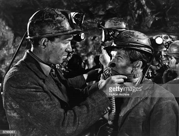 Fulton Mackay and John Gregson star in the film 'The Brave Don't Cry' based on a reallife accident in a Scottish mine The film was directed by Philip...