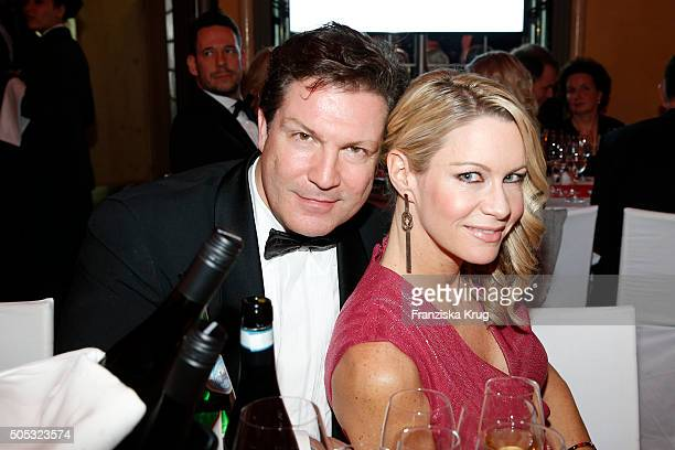 FultonSmith and Verena Klein during the German Film Ball 2016 at Hotel Bayerischer Hof on January 16 2016 in Munich Germany