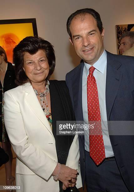 "Fulvia Visconti and Massimo Ferragamo during Salvatore Ferragamo Hosts Event to Inaugurate The ""Origin - Mother and Child"" Art Exhibit in New York..."