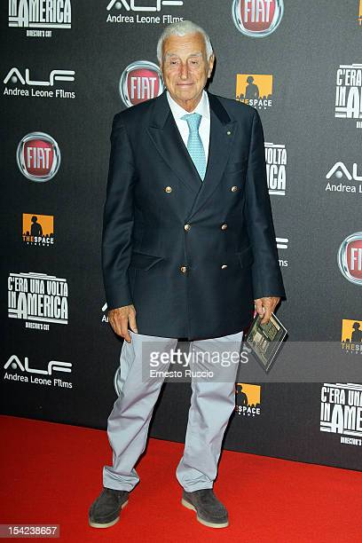 Fulvio Lucisano attends the 'C'era Una Volta In America Director's Cut' premiere at Space Moderno on October 16 2012 in Rome Italy