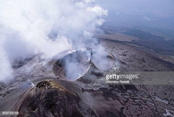 Fumes from Mount Etna