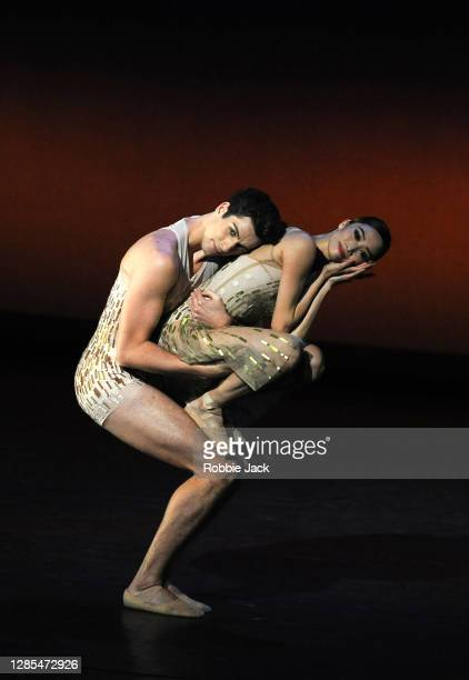 Fumi Kaneko and Reece Clarke in The Royal Ballet's production of Christopher Wheeldon's Within the Golden Hour at The Royal Opera House on November...
