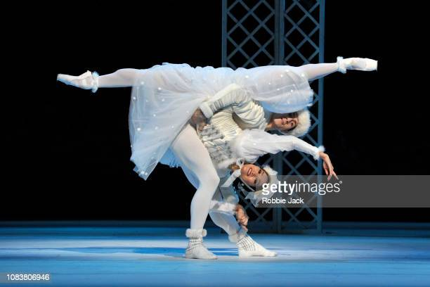 Fumi Kaneko and William Bracewell in The Royal Ballet's production of Frederick Ashton's Les Patineurs at The Royal Opera House on December 17 2018...
