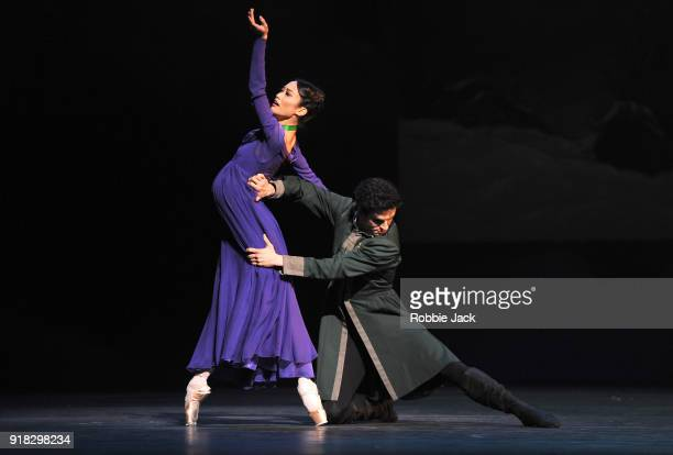 Fumi Kaneko as Hermione and Frederico Bonelli as Leontes in the Royal Ballet's production of Christopher Wheeldon's The Winter's Tale at the Royal...