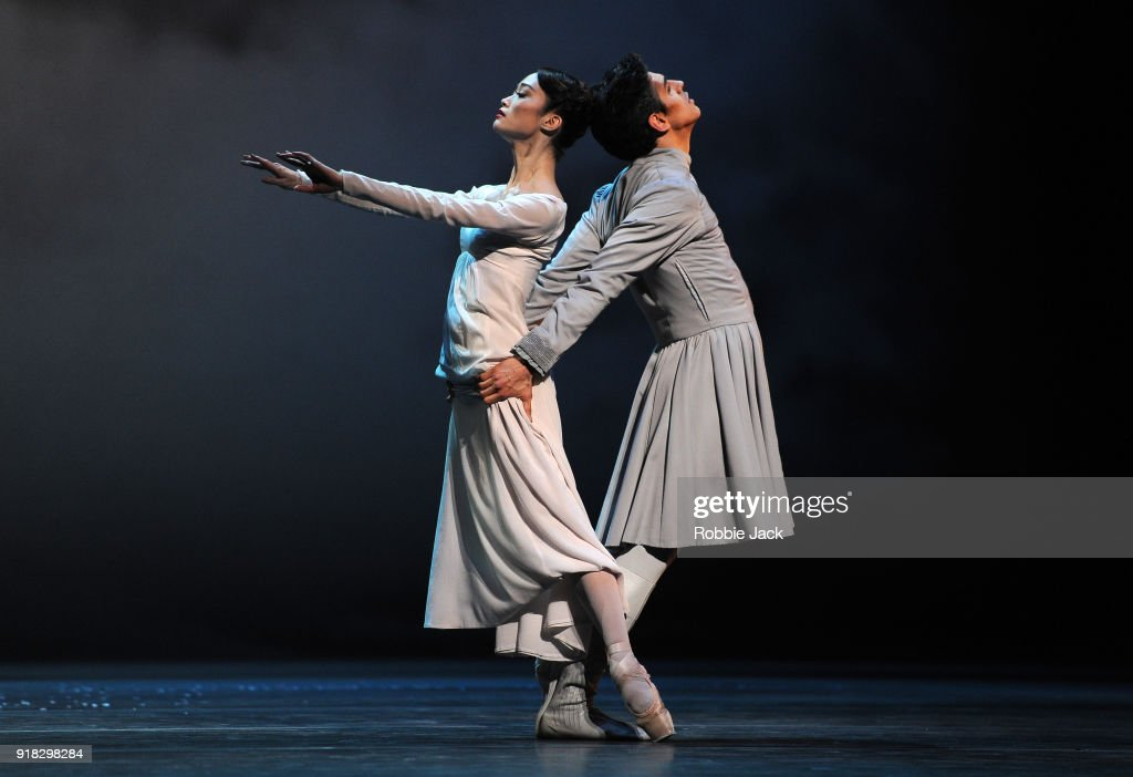 Fumi Kaneko as Hermione and Frederico Bonelli as Leontes in the Royal Ballet's production of Christopher Wheeldon's The Winter's Tale at the Royal Opera House on February 12, 2018 in London, England.