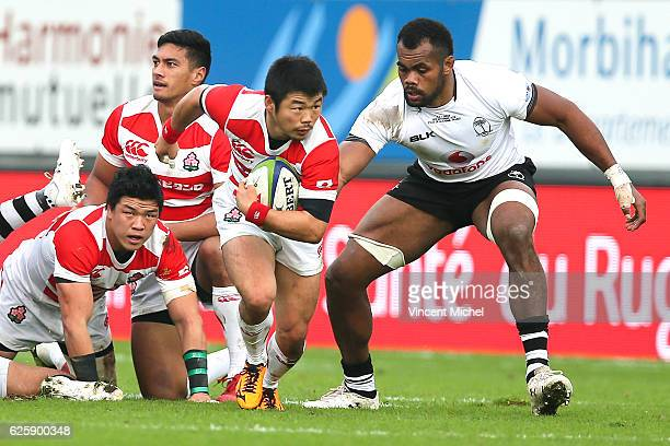 Fumiaki Tanaka of Japan during the Test match between Fiji and Japan at Stade de la Rabine on November 26 2016 in Vannes France