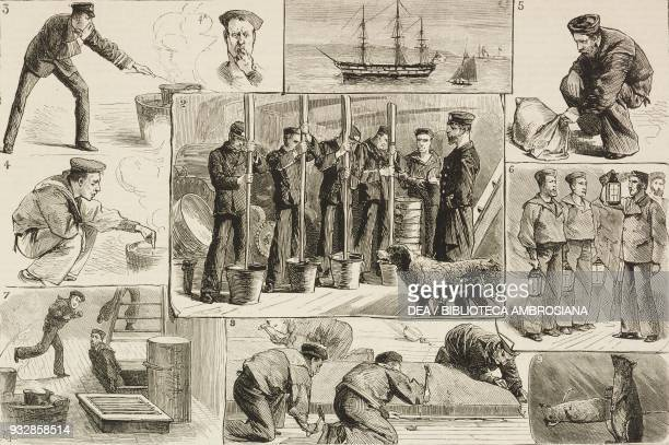 Fumigation of a Training Vessel illustration from the magazine The Graphic volume XXIV no 623 November 5 1881