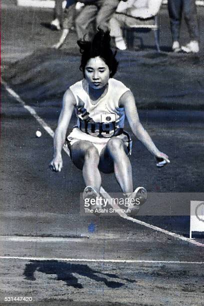 Fumiko Ito of Japan competes in the Women's Long Jump during the Rome Summer Olympic Games at the Olympic Stadium on August 31 1960 in Rome Italy