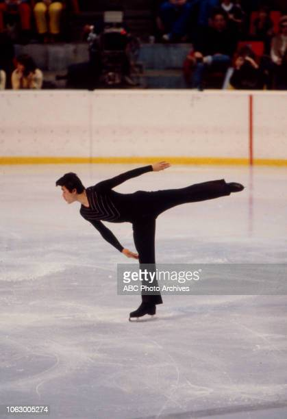 Fumio Igarashi competing in the Men's figure skating event at the 1980 Winter Olympics / XIII Olympic Winter Games Olympic Center