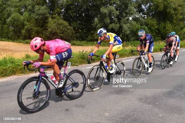 Fumiyuki Beppu of Japan and Team EF Education - Nippo, Ward Vanhoof of Belgium and Team Sport Vlaanderen - Baloise, Senne Leysen of Belgium and Team...