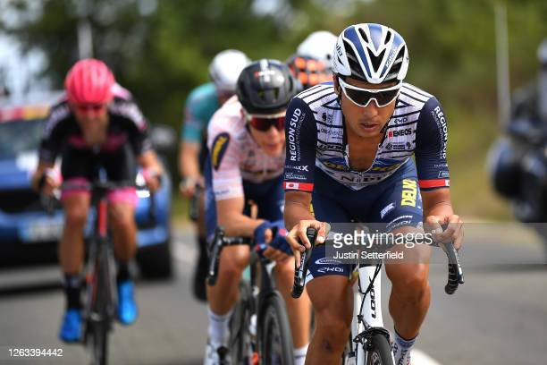 Fumiyuki Beppu of Japan and Team Nippo Delko Provence / Samuel Leroux of France and Team Natura4Ever - Roubaix Lille Métropole / during the 44th La...