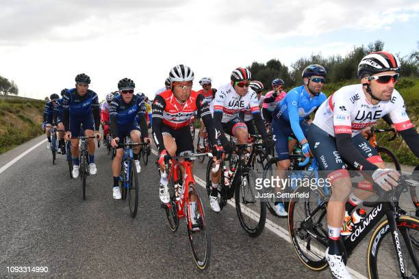 Fumiyuki Beppu of Japan and Team Trek-Segafredo / Alexander Kristoff of Norway and UAE - Team Emirates / Marco Marcato of Italy and UAE - Team...
