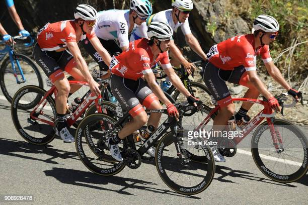 Fumiyuki Beppu of Japan and TrekSegafreddo competes during stage four of the 2018 Tour Down Under on January 19 2018 in Adelaide Australia