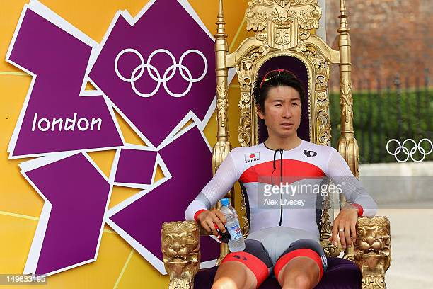Fumiyuki Beppu of Japan waits for the reuslts during the Men's Individual Time Trial Road Cycling on day 5 of the London 2012 Olympic Games on August...