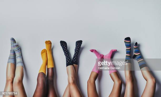 fun and funky socks - leg stock pictures, royalty-free photos & images