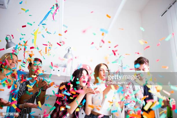 fun and party in office - work party stock pictures, royalty-free photos & images