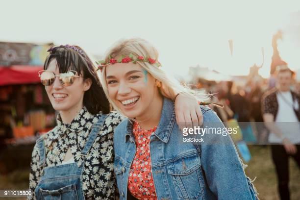 Spaß auf einem Musikfestival