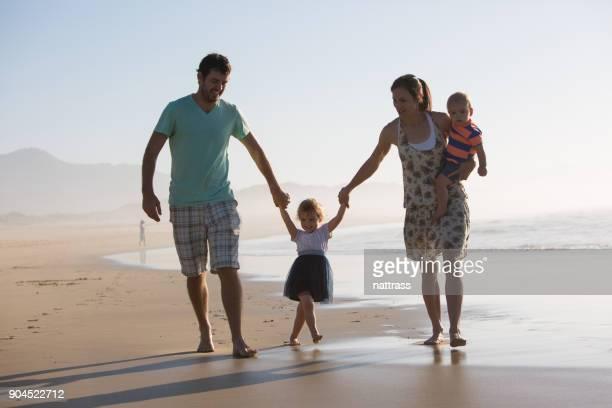 Fun family outing to the beach