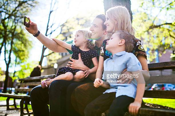 Fun Family Taking Selfie