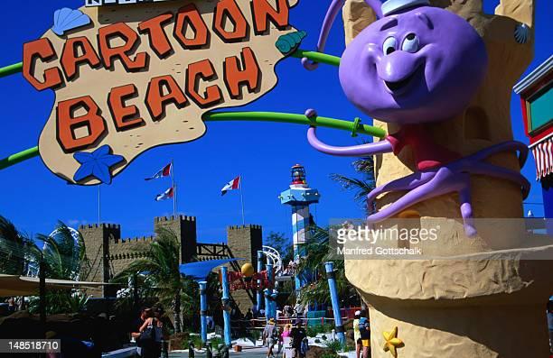 Fun for kids at Cartoon Beach at Sea World on the Gold Coast