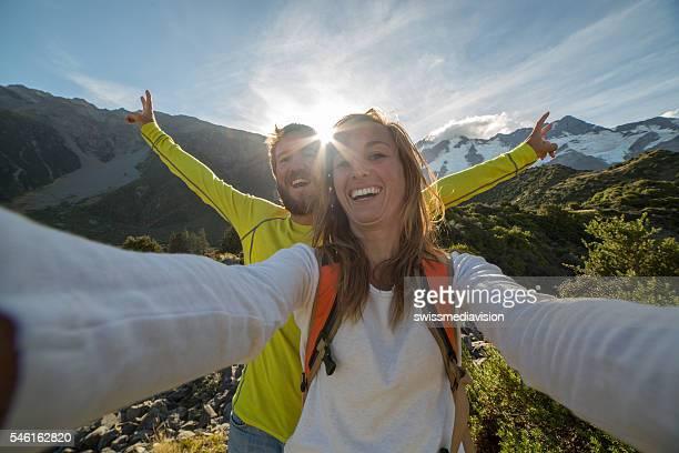 Fun hiking in New Zealand