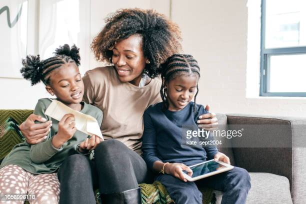 fun holidays with kids - black mothers day stock pictures, royalty-free photos & images