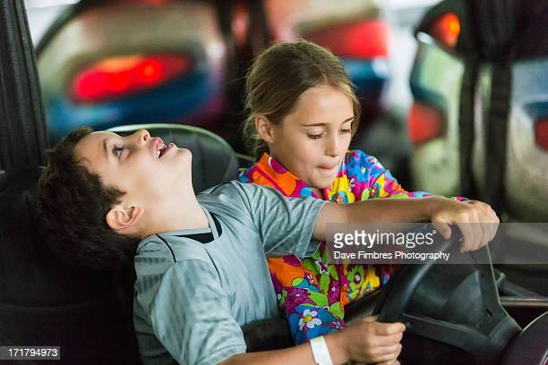 fun in a bumper car - mclean virginia stock pictures, royalty-free photos & images