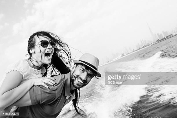 Fun in Dubai, Couple on a Yacht