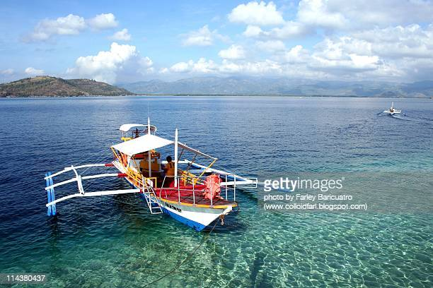 fun in the sea - negros oriental stock pictures, royalty-free photos & images