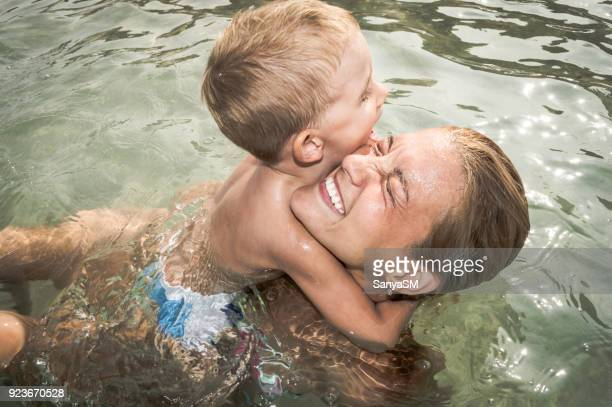 fun in the sea - butlins stock pictures, royalty-free photos & images