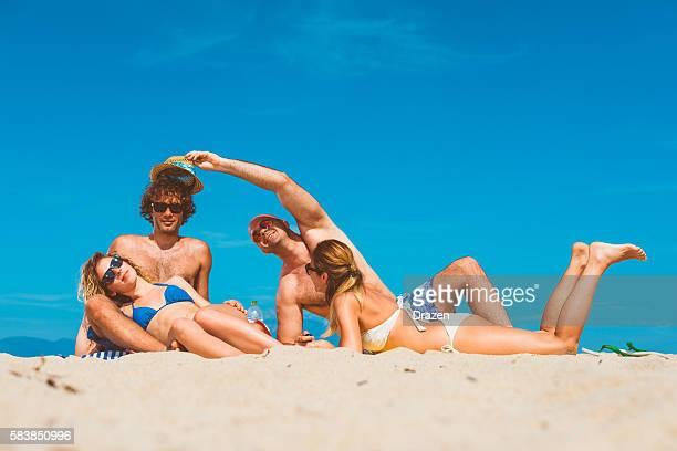 Fun, love, beach, swimming, sunbathing - we love summer