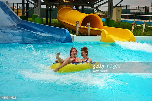 fun moment in aqua park - butlins stock pictures, royalty-free photos & images