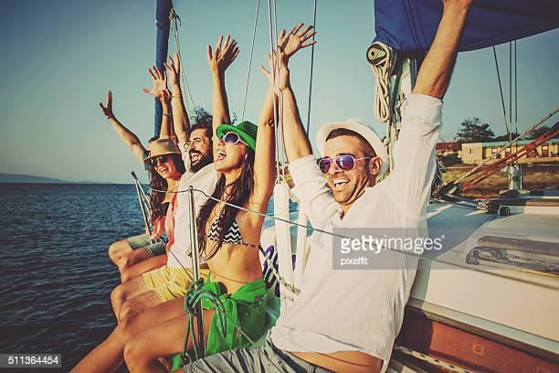 Détente sur un Yacht