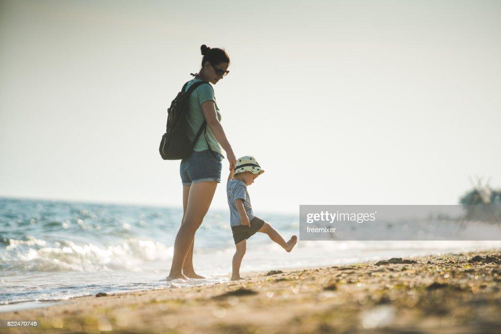 Fun on the beach : Stock Photo