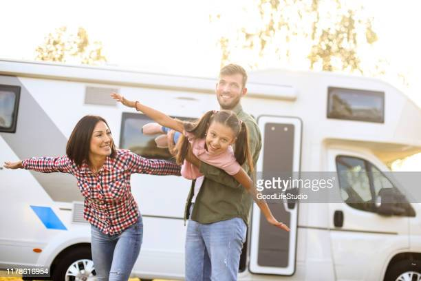 fun - camper van stock pictures, royalty-free photos & images