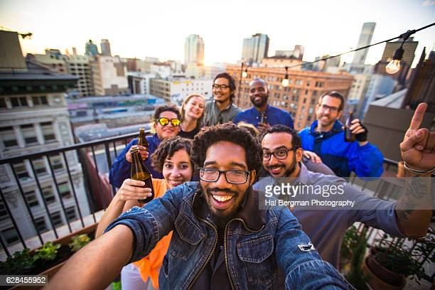 Fun Selfie at Rooftop Party