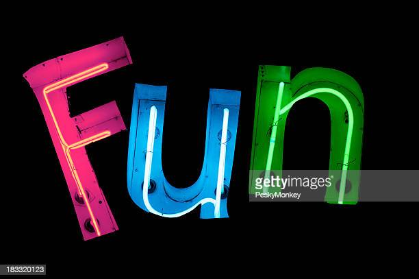 Fun Spelled Out in Colorful Neon
