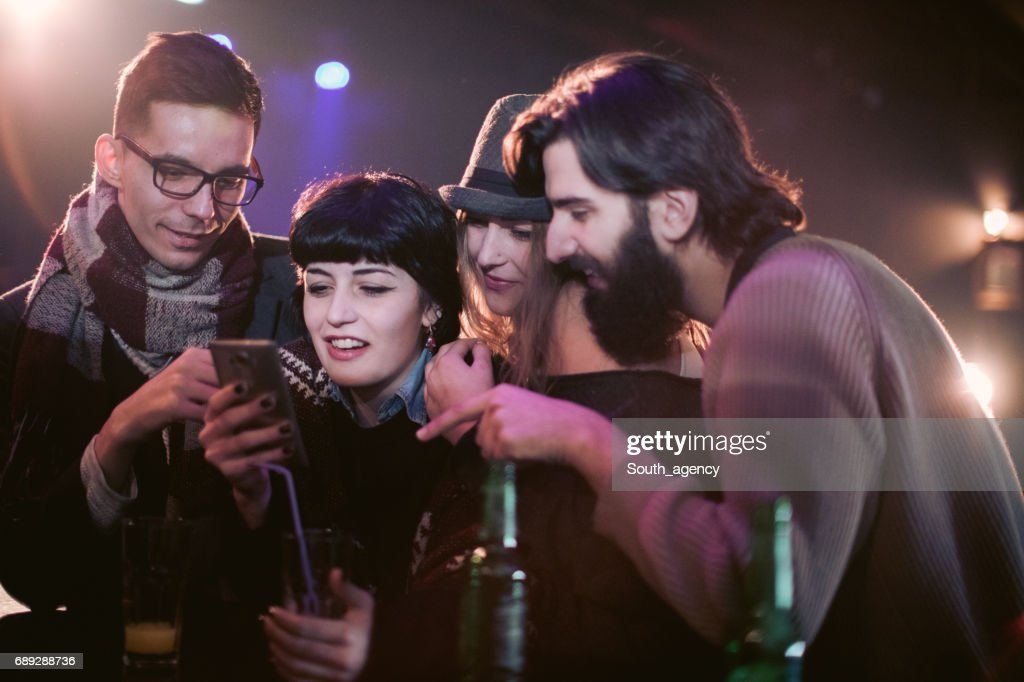 Fun times at the bar : Stock Photo